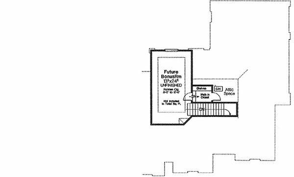 Architectural House Design - European Floor Plan - Upper Floor Plan #310-552