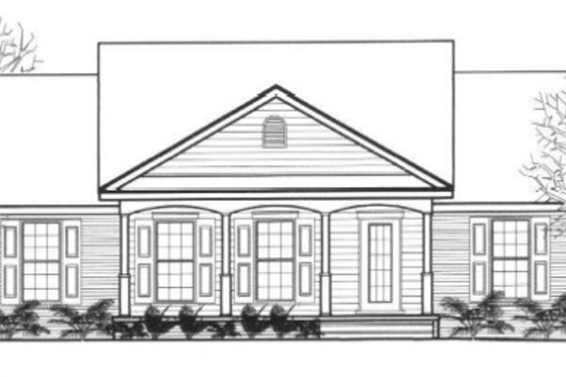 Traditional Style House Plan - 3 Beds 2 Baths 1276 Sq/Ft Plan #14-248