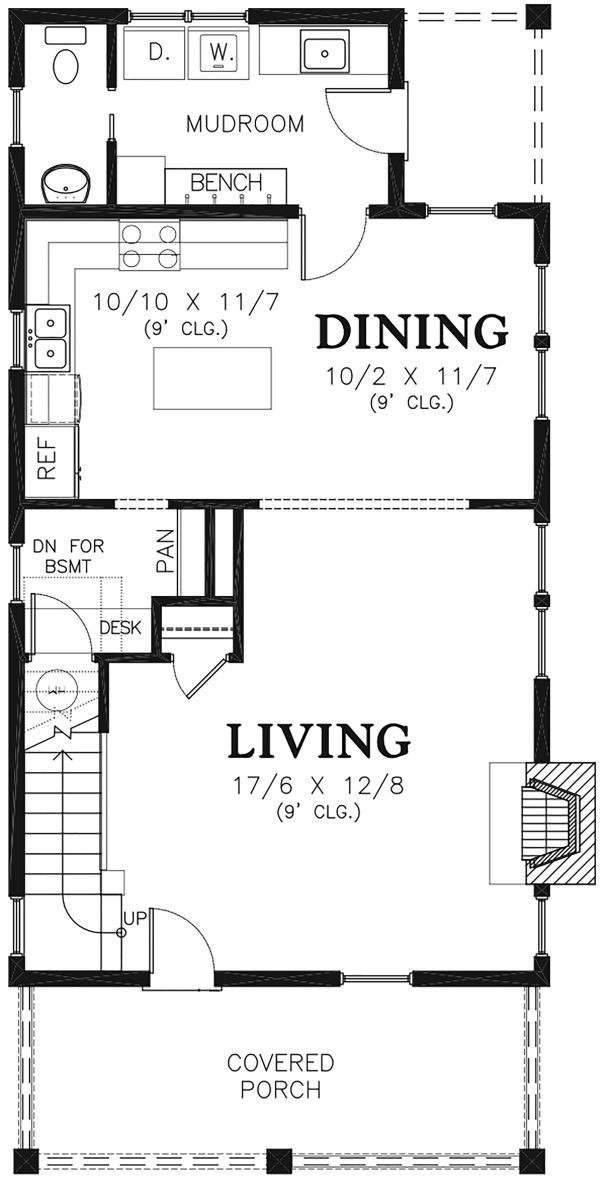Traditional Floor Plan - Main Floor Plan Plan #48-978