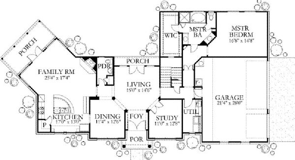 Traditional Floor Plan - Main Floor Plan Plan #80-187