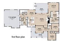 Farmhouse Floor Plan - Main Floor Plan Plan #120-270