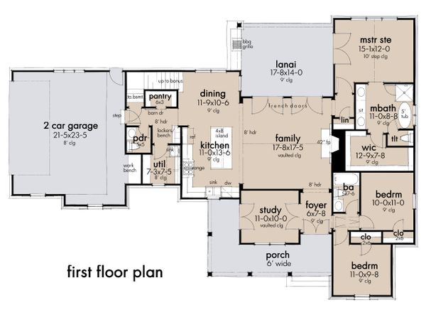 Farmhouse Floor Plan - Main Floor Plan Plan #120-270