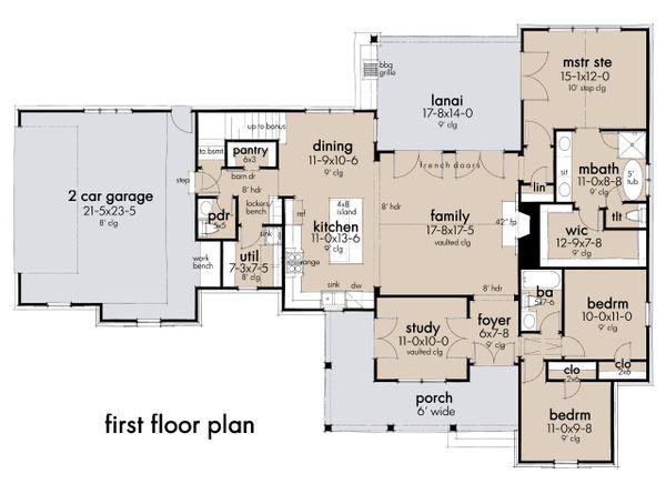 Architectural House Design - Farmhouse Floor Plan - Main Floor Plan #120-270