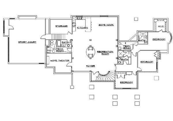 Bungalow Floor Plan - Lower Floor Plan Plan #5-414