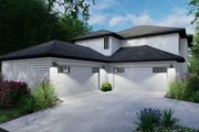 Cottage Style House Plan - 6 Beds 4.5 Baths 3038 Sq/Ft Plan #120-267 Exterior - Rear Elevation