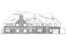 House Plan Design - Traditional Exterior - Rear Elevation Plan #5-322