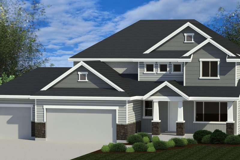 Traditional Style House Plan - 4 Beds 2.5 Baths 2294 Sq/Ft Plan #920-114 Exterior - Front Elevation