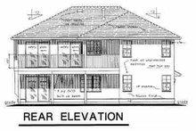 House Blueprint - European Exterior - Rear Elevation Plan #18-214