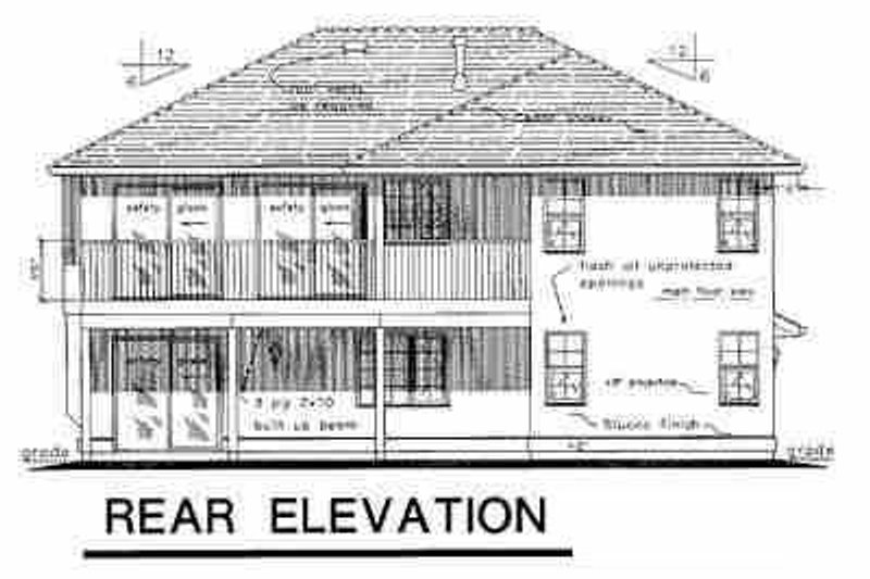 European Exterior - Rear Elevation Plan #18-214 - Houseplans.com