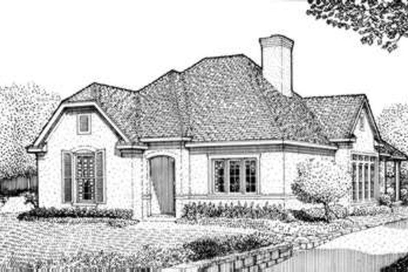 Home Plan - European Exterior - Front Elevation Plan #410-338