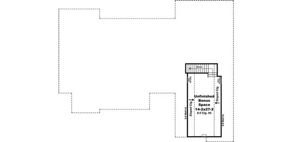 Traditional Floor Plan - Upper Floor Plan Plan #21-377