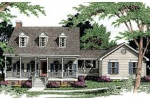 Dream House Plan - Country Exterior - Front Elevation Plan #406-164