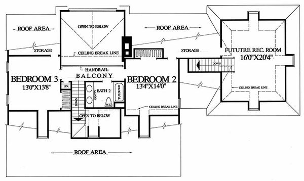 Country Floor Plan - Upper Floor Plan Plan #137-109