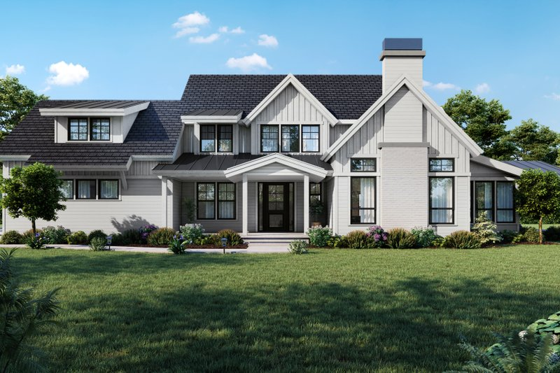 Farmhouse Style House Plan - 4 Beds 3.5 Baths 3514 Sq/Ft Plan #1070-113 Exterior - Front Elevation