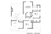 Craftsman Style House Plan - 3 Beds 2.5 Baths 2164 Sq/Ft Plan #48-109 Floor Plan - Upper Floor Plan