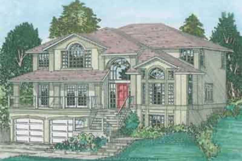 Traditional Exterior - Front Elevation Plan #126-134 - Houseplans.com
