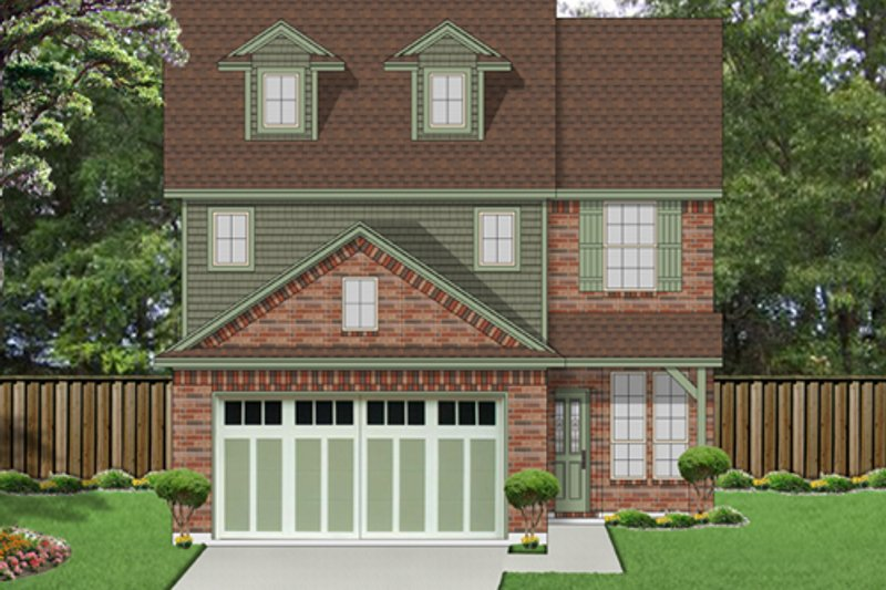 Traditional Style House Plan - 3 Beds 2.5 Baths 1876 Sq/Ft Plan #84-554 Exterior - Front Elevation