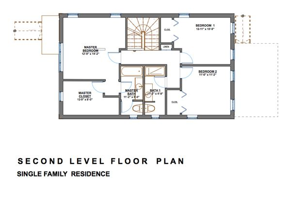 Modern Floor Plan - Upper Floor Plan Plan #535-2