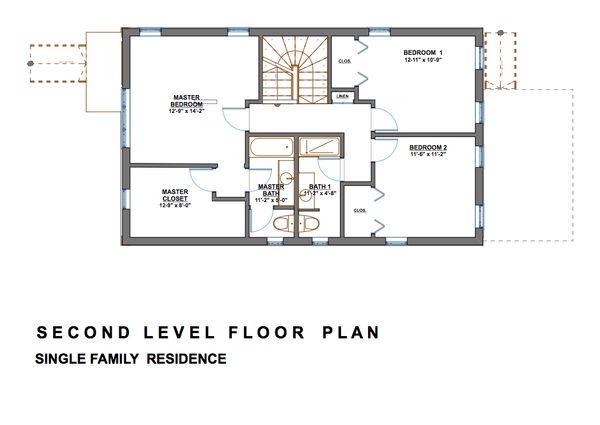 Modern Floor Plan - Upper Floor Plan #535-2