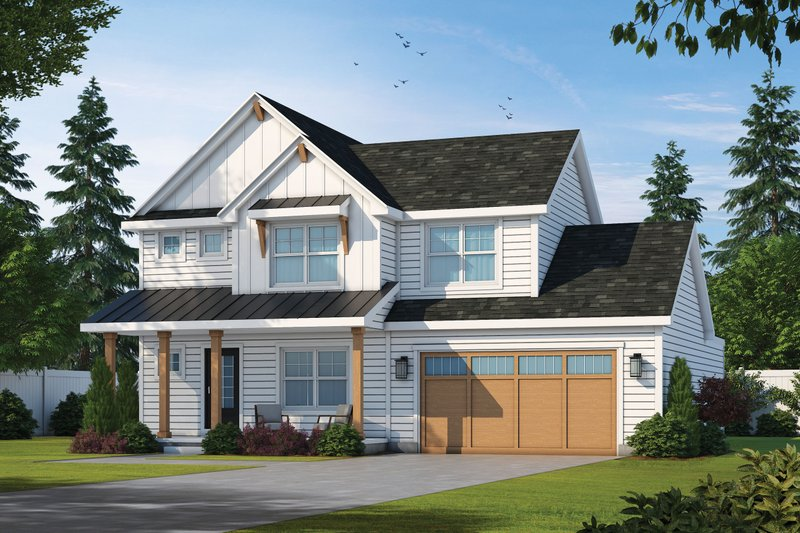 Architectural House Design - Farmhouse Exterior - Front Elevation Plan #20-2392