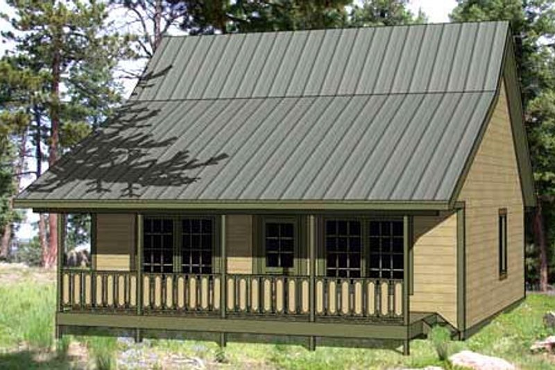 Cottage Style House Plan - 3 Beds 2 Baths 1143 Sq/Ft Plan #116-220