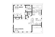 Cottage Floor Plan - Upper Floor Plan Plan #118-133