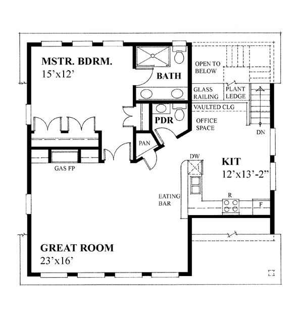 Cottage Floor Plan - Upper Floor Plan Plan #118-133