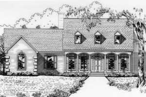 Colonial Exterior - Front Elevation Plan #15-129