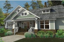 Architectural House Design - Craftsman Exterior - Front Elevation Plan #120-187