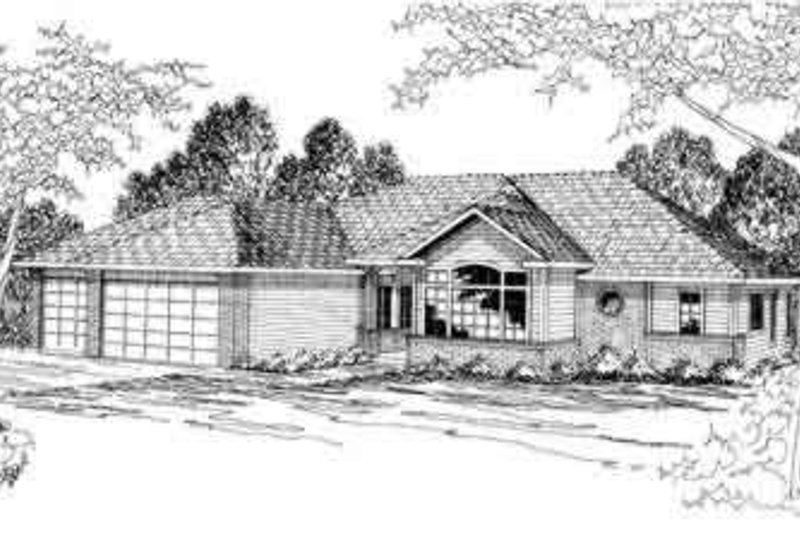 Modern Exterior - Front Elevation Plan #124-296