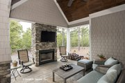 Craftsman Style House Plan - 4 Beds 3 Baths 2533 Sq/Ft Plan #929-24 Exterior - Outdoor Living