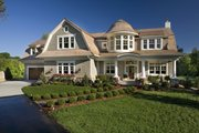 Traditional Style House Plan - 4 Beds 4 Baths 5342 Sq/Ft Plan #56-604 Exterior - Front Elevation