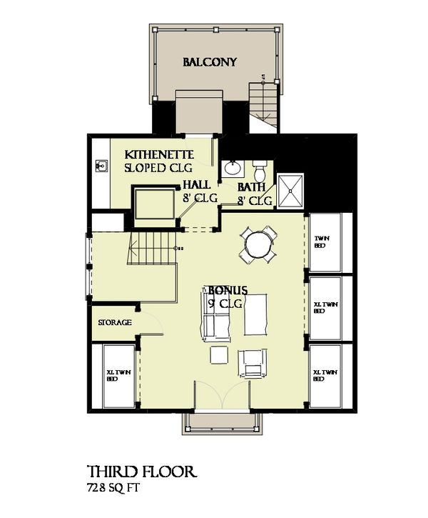 Beach Floor Plan - Other Floor Plan Plan #901-124