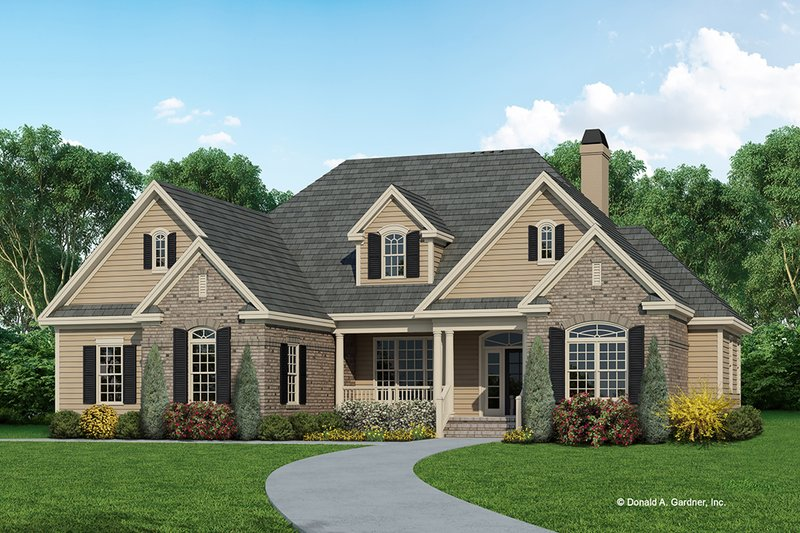 Country Exterior - Front Elevation Plan #929-83