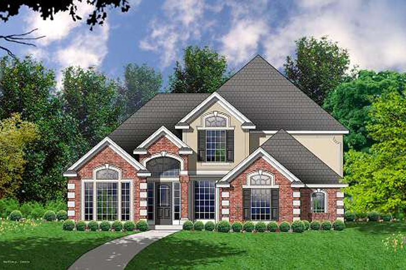 Traditional Exterior - Front Elevation Plan #40-402 - Houseplans.com