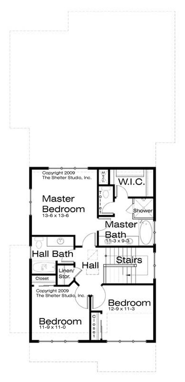 Prairie Style House Plan - 3 Beds 2.5 Baths 1977 Sq/Ft Plan #434-11 Floor Plan - Upper Floor Plan