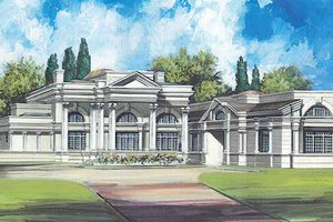 Dream House Plan - Classical Exterior - Front Elevation Plan #119-164
