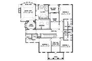 Colonial Style House Plan - 5 Beds 5.5 Baths 5726 Sq/Ft Plan #54-133 Floor Plan - Upper Floor Plan