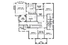 Colonial Floor Plan - Upper Floor Plan Plan #54-133