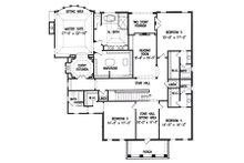 Colonial Floor Plan - Upper Floor Plan Plan #54-133