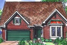 European Exterior - Front Elevation Plan #320-449