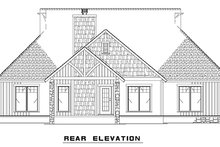 House Plan Design - Craftsman Exterior - Rear Elevation Plan #17-2910