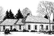 Traditional Style House Plan - 4 Beds 2.5 Baths 2842 Sq/Ft Plan #10-153 Exterior - Front Elevation