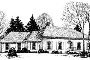 Traditional Exterior - Front Elevation Plan #10-153