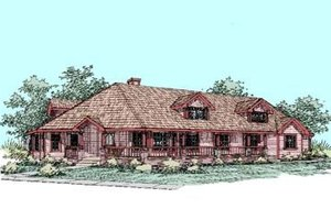 Country Exterior - Front Elevation Plan #60-284
