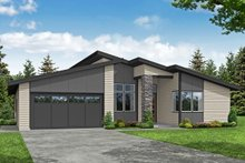 Dream House Plan - Modern Exterior - Front Elevation Plan #124-1231