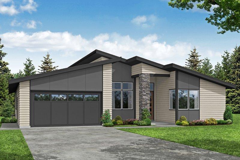 Dream House Plan - Modern Exterior - Front Elevation Plan #124-1231