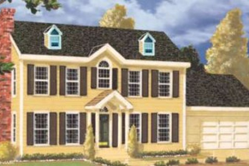 Architectural House Design - Colonial Exterior - Front Elevation Plan #3-170