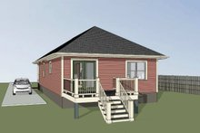 Dream House Plan - Cottage Exterior - Rear Elevation Plan #79-129