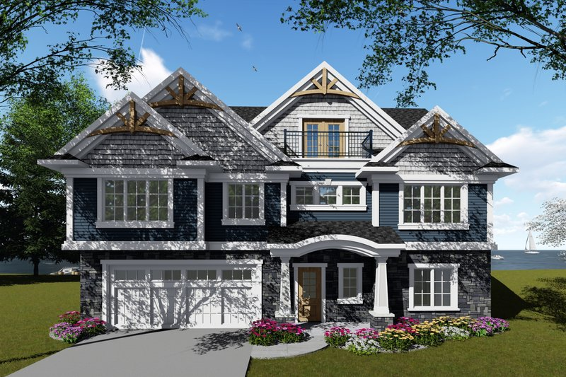 Home Plan - Traditional Exterior - Front Elevation Plan #70-1435